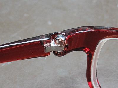 セルフレームメガネの修理
