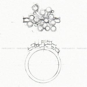 デザイン画-放射状リング