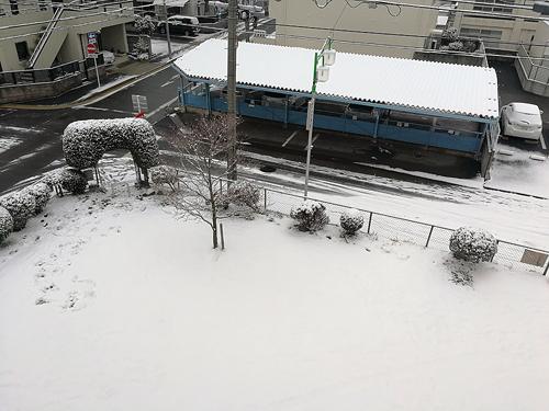 2018年1月26日雪の名古屋