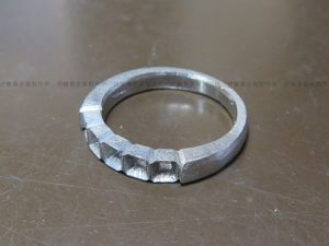 8角形のダイヤのリング作り