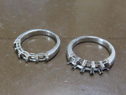 8角形ダイヤのリング枠