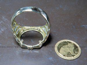K18YGコインリングの爪修理