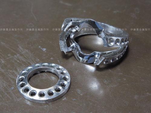 Pt900 4ctダイヤ立爪リングのリフォーム