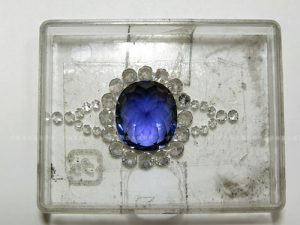 Pt900タンザナイトリング メレダイヤ