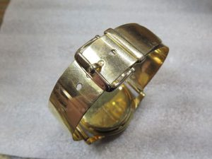 K18YG時計ベルト金具の修理