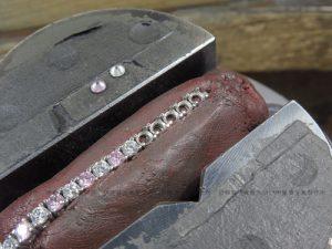 シルバー製テニスブレスの修理 石留め
