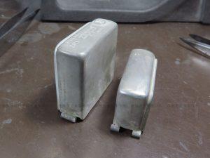シルバー製ジッポーライターケースの修理 蝶番パイプのロウ付け