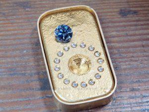 遺骨ダイヤモンドのペンダント 石外し