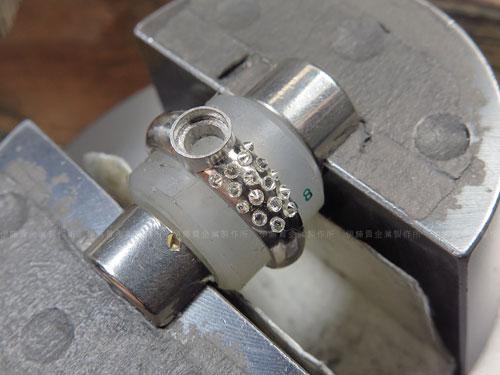 プラチナリング メレダイヤの配置