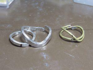 真鍮線でリングデザイン確認