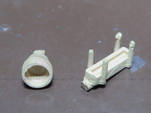 3Dプリンターで造形してキャスト