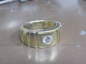 K18YGダイヤメンズリング