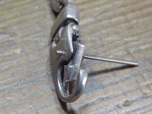 シルバーブレスの金具修理 シャフト交換