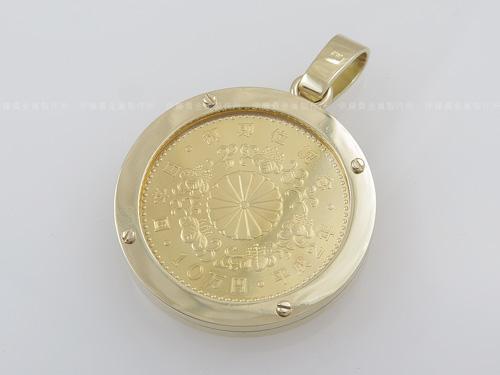 K18YGネジ留めコイン枠